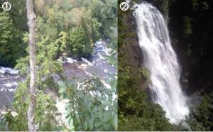 左は平滑ノ滝、右が三条ノ滝