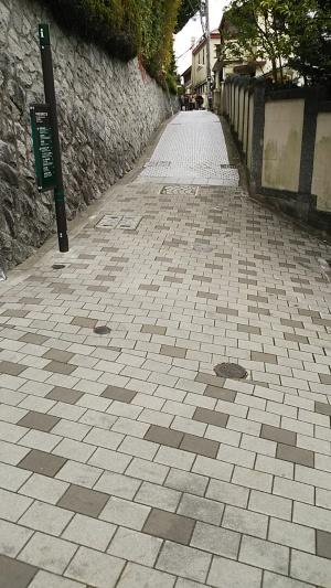 異人館街 石畳